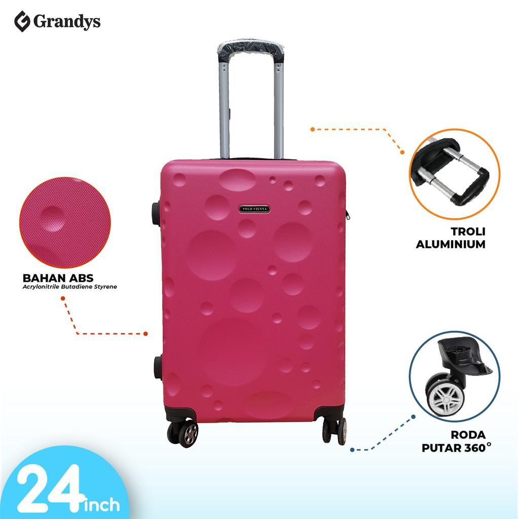 กระเป๋าเดินทางล้อลาก 4 Abs 24 นิ้วสําหรับผู้หญิง