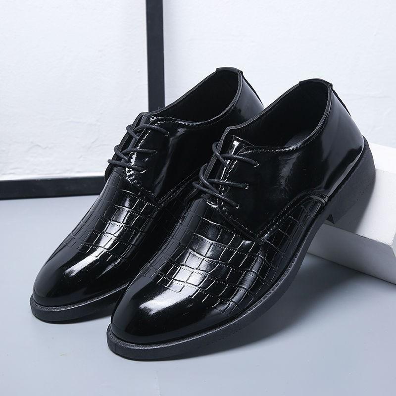 👞รองเท้าหนัง👞  รองเท้าหนังผู้ชาย รองเท้าธุรกิจ รองเท้าคัชชูหนังขัดมันชาย  รองเท้าหนังแบบผูกเชือกสำหรับผู้ชาย