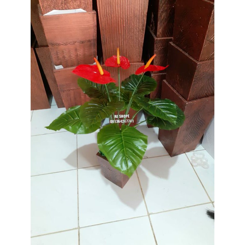 ดอกไม้พลาสติก / Anthurium / Anthurium Andraeanum / ดอกไม้ประดิษฐ์สําหรับตกแต่งบ้าน