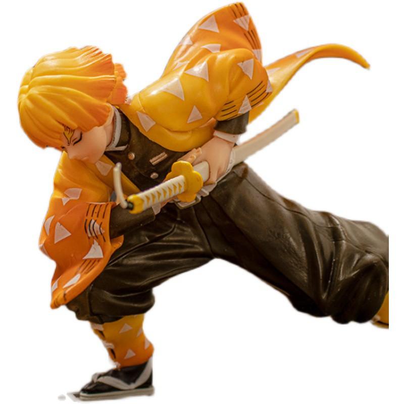นักล่าปีศาจFashion Demon Slayer Figure Model Anime Model Toys  Collection Blade My Wife Zenyi Action Figure Children Toy