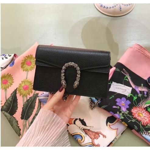 Gucci Dionysus Gg Supreme กระเป๋าหนังสะพายไหล่ขนาดเล็กสีด ํา 476432