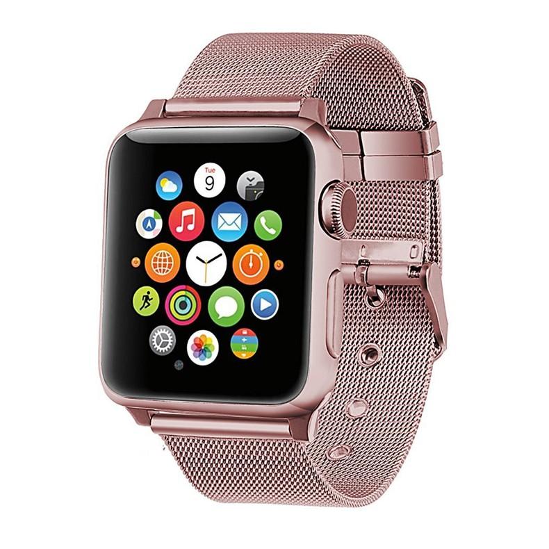 นาฬิกาข้อมือ Apple Watch สาย LAN 38 มม. 42 มม.40 มม 44มม series 6 5 4 3 2 1, Apple Watch SE สาย applewatch milanese Stra