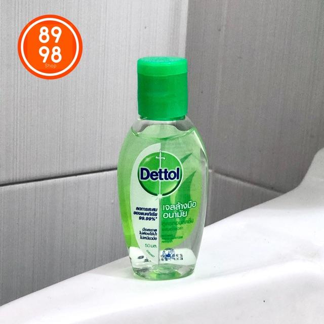 เจลล้างมืออนามัย Dettol สูตรหอมสดชื่น ผสมอโลเวร่า instant hand sanitizer refresh