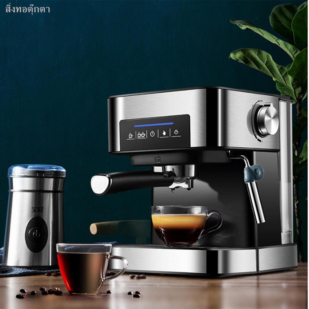 ✖☇เครื่องชงกาแฟ เครื่องชงกาแฟเอสเพรสโซ การทำโฟมนมแฟนซี การปรับความเข้มของกาแฟด้วยตนเอง เครื่องทำกาแฟขนาดเล็ก เครื่องทำก