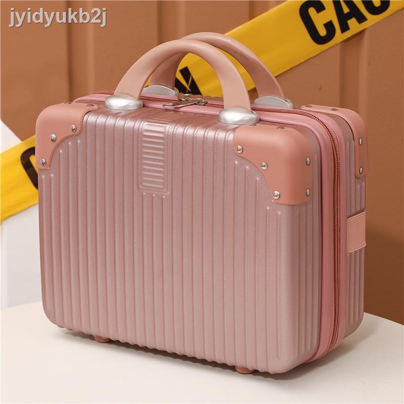 📿【กระเป๋าแฟชั่น】📿✿✷♤กระเป๋าเครื่องสำอางขนาด 14 นิ้วกระเป๋าเดินทางกระเป๋าเดินทางขนาดเล็กกระเป๋าเดินทางขนาดเล็กน้ำหนั