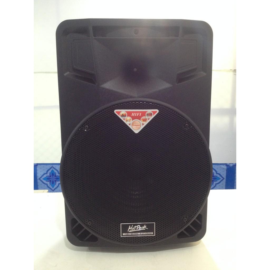"""ตู้ลำโพงเคลื่อนที่ ตู้ลำโพงแบบพกพา มีล้อลาก ตู้ลำโพงช่วยสอน HotRock HF-052 D Speaker 12"""" 100W BLUETOOTH USB microSD Card"""