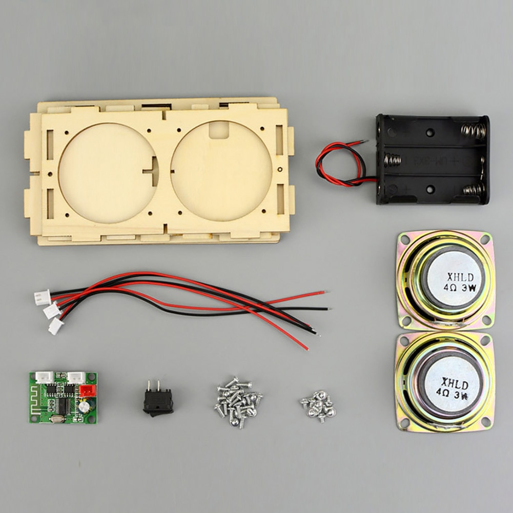 STEM Learning Handmade DIY Bluetooth Speaker Box Kit Electronic Sound Amplifier