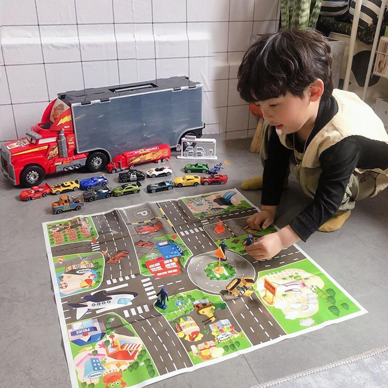♨∋Cars General Mobilization Racing Uncle Mai Container Truck รถของเล่นล้อแม็กสำหรับเด็กจำลอง Lightning McQueen Toy Boy