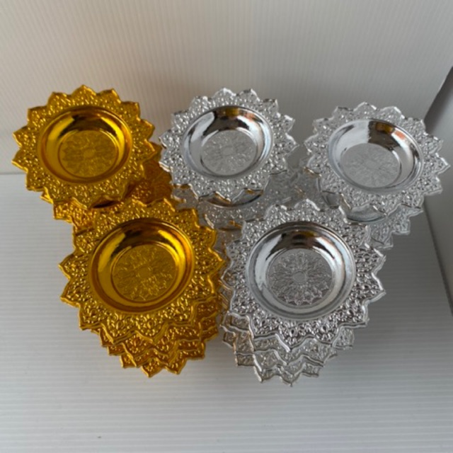 พานโตก พานเงิน พานทอง จิ๋วพิเศษ 8 cm (q) 10 cm (h) ราคาต่อ 1 ชิ้น