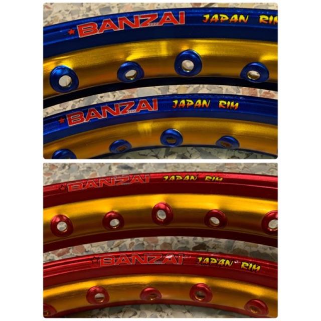 วงล้อ/ขอบล้อBanzaiล้อ2สี ล้อเจาะตา ทอง-ไทเท วงล้อ(ราคาคู่)