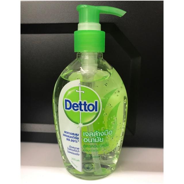 **พร้อมส่ง *** DETTOL เจลล้างมืออนามัย 200 ml แบบไม่ต้องล้างน้ำ