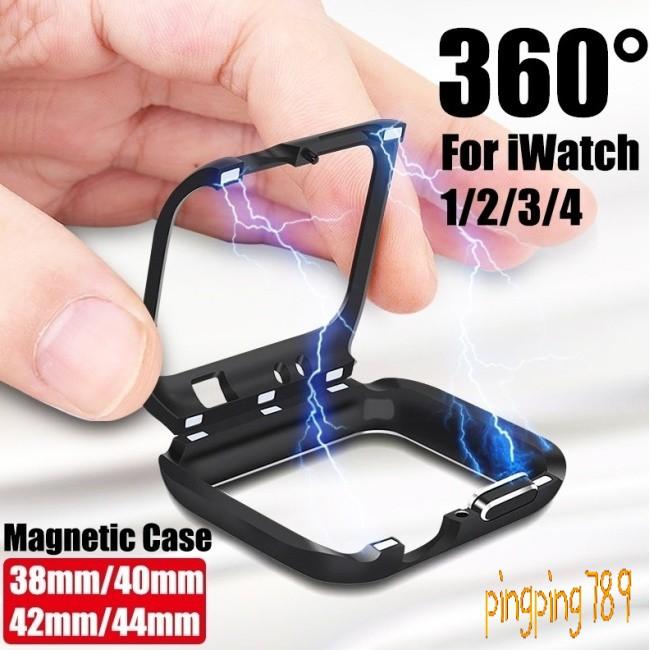 ดี For Apple Watch iWatch Series 4/3/2/1 Magnetic Metal Bumper Case 38 40 42 44mm