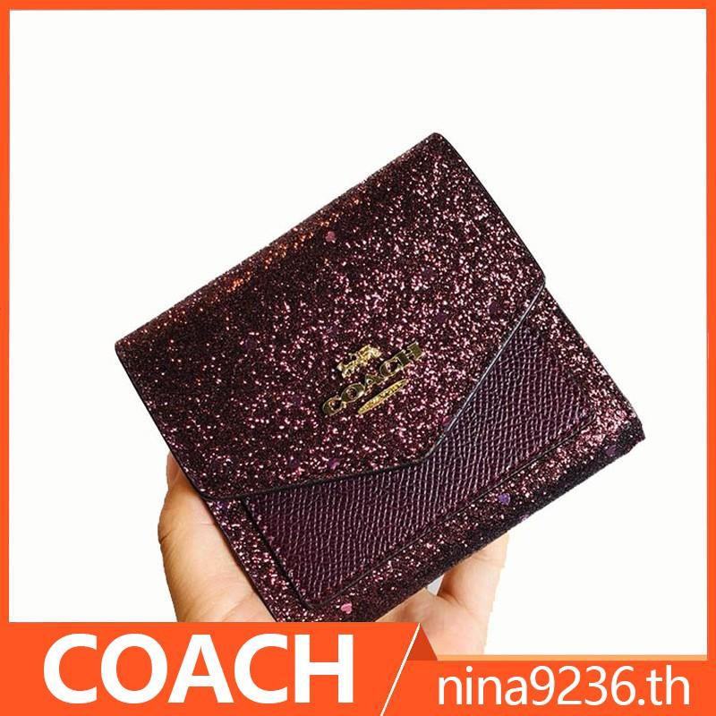 coach กระเป๋าสตางค์ ผู้หญิง F39128 กระเป๋าสตางค์ใบสั้น กระเป๋าสตางค์ผู้หญิง กระเป๋าตังค์ กระเป๋าสตางค์ใบสั้น