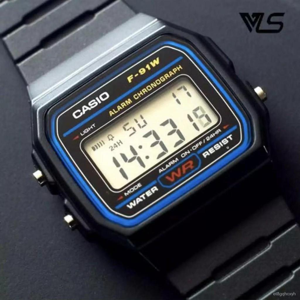 ใหม่Casio นาฬิกาข้อมือผู้ชาย สายสแตนเลส รุ่น A158WA-1DF - สีเงิน