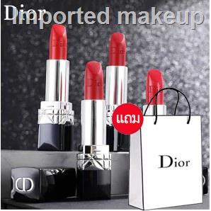 🔥hot🔥❈✟✢ลิปสติก Dior Lip Glow Rouge Dior Matte Lipstick Couture Colour Comfort and Wear Lipstick, 999 ลิปสติกดิออร์ ลิ