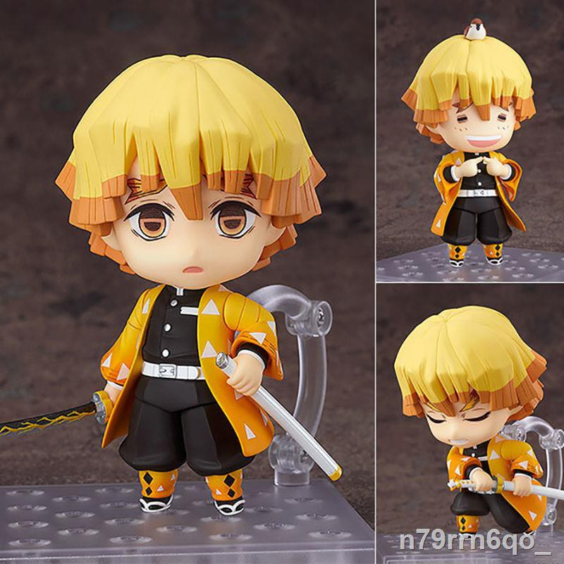 ●☌❣Nendoroid Demon Slayer: Tanjiro Nidouzi Butterfly Ninja Figure Anime My Wife Zenyi Model Case Decoration