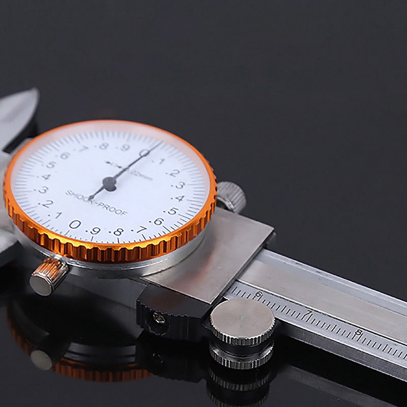 0-150mm Vernier Caliper Stainless Steel Dial Gauge Micrometer Silver Replace