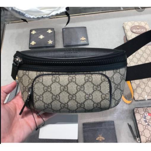 GUCCI Gucci GG Supreme belt bag กระเป๋าคาดอกคาดเอว 450946 ขนาด 23 * 11 * 8 cm