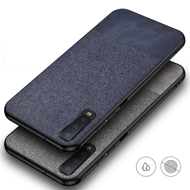 Case Samsung Galaxy A7 2018 A9 2018 A6+ J6 J8 A6 2018 A9 Star Pro S7 Edge S7 S8+ S9+ S10+ M20 Cloth Stitching Case Cover