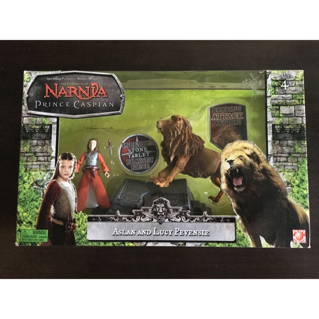The Chronicles of Narnia Action Figure, 1:18 , Aslan & Lucy Pevensie