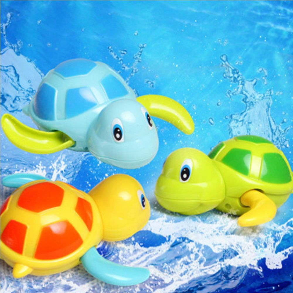 Colorful Swim Turtle wound-up Chain Small Animal Bath Toys For Children Baby