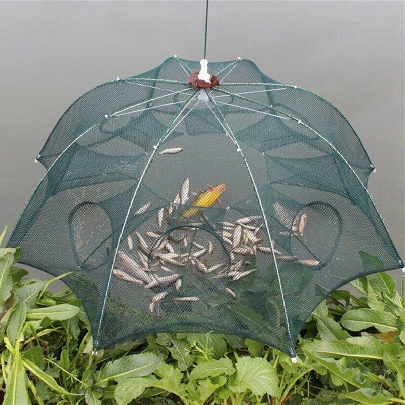 (มุ้งดักปลา 8ช่อง) ตาข่ายดักกุ้ง ตาข่ายดักปลา 8 หลุม ตาข่ายดักกุ้งดักปลา Shrimp trap net