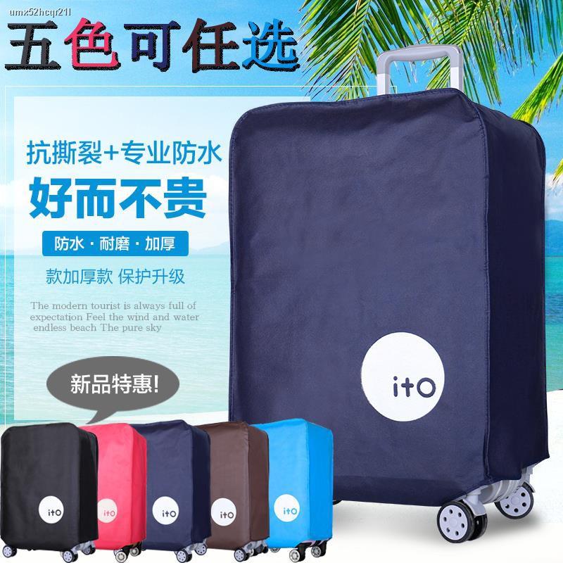 tiktok❍❂ฝาครอบป้องกันกระเป๋าเดินทาง 28 suitcase dust cover 20 trolley case 24 inch 26 thick waterproof bag