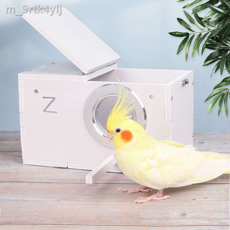 ราคาถูก✑การเพาะพันธุ์นกแก้วจงชังเทียน กล่องผิวเสือดอกโบตั๋นฟีนิกซ์สีดำความอบอุ่นฟักไข่รังนกไม้แนวตั้งอุปกรณ์บ้านนกเครื่