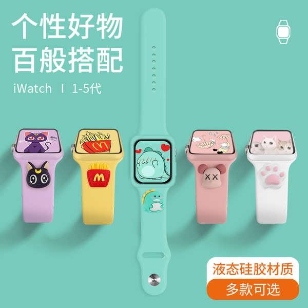 สาย applewatch สาย iwatch สาย Apple watch สาย applewatch iwatch6 / 5/4/3/2 รุ่นการ์ตูนน่ารัก 38 / 42mm40 / 44 ชายและหญิง