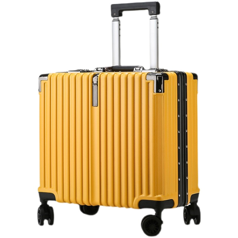 ❣กระเป๋าเดินทางรถเข็นกระเป๋าเดินทางขนาด 18 นิ้วกระเป๋าเดินทางใบเล็กขนาดเล็กกระเป๋าเดินทางน้ำหนักเบาพิเศษสำหรับชายและหญิง