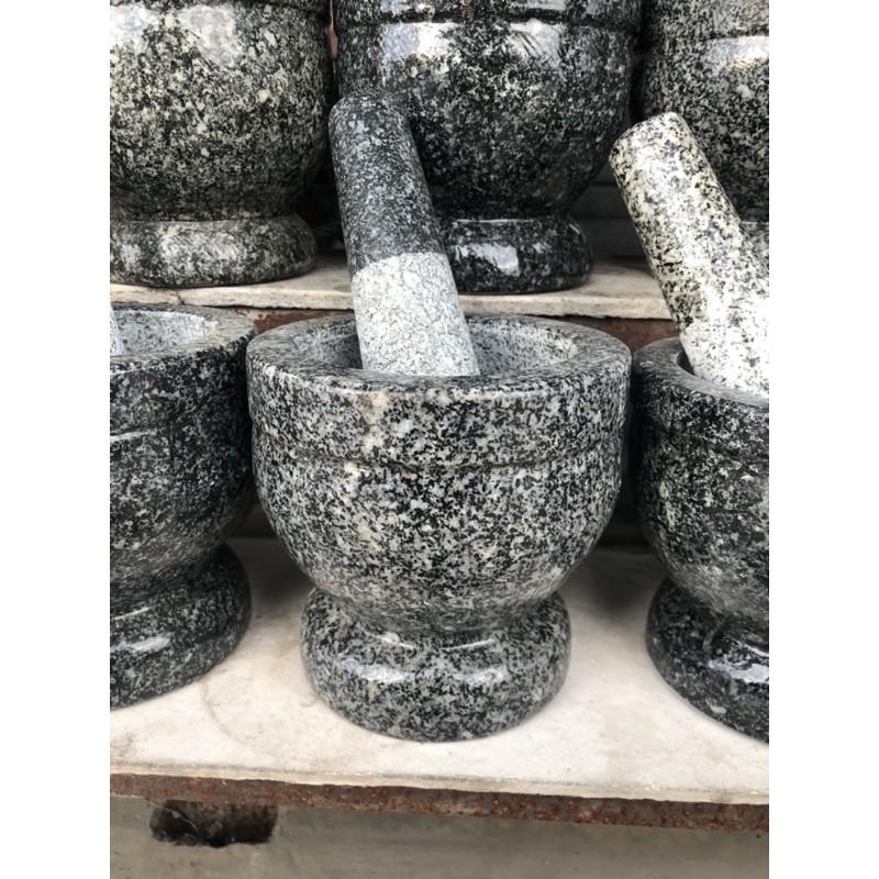 ครกหินแท้อ่างศิลาพร้อมสาก
