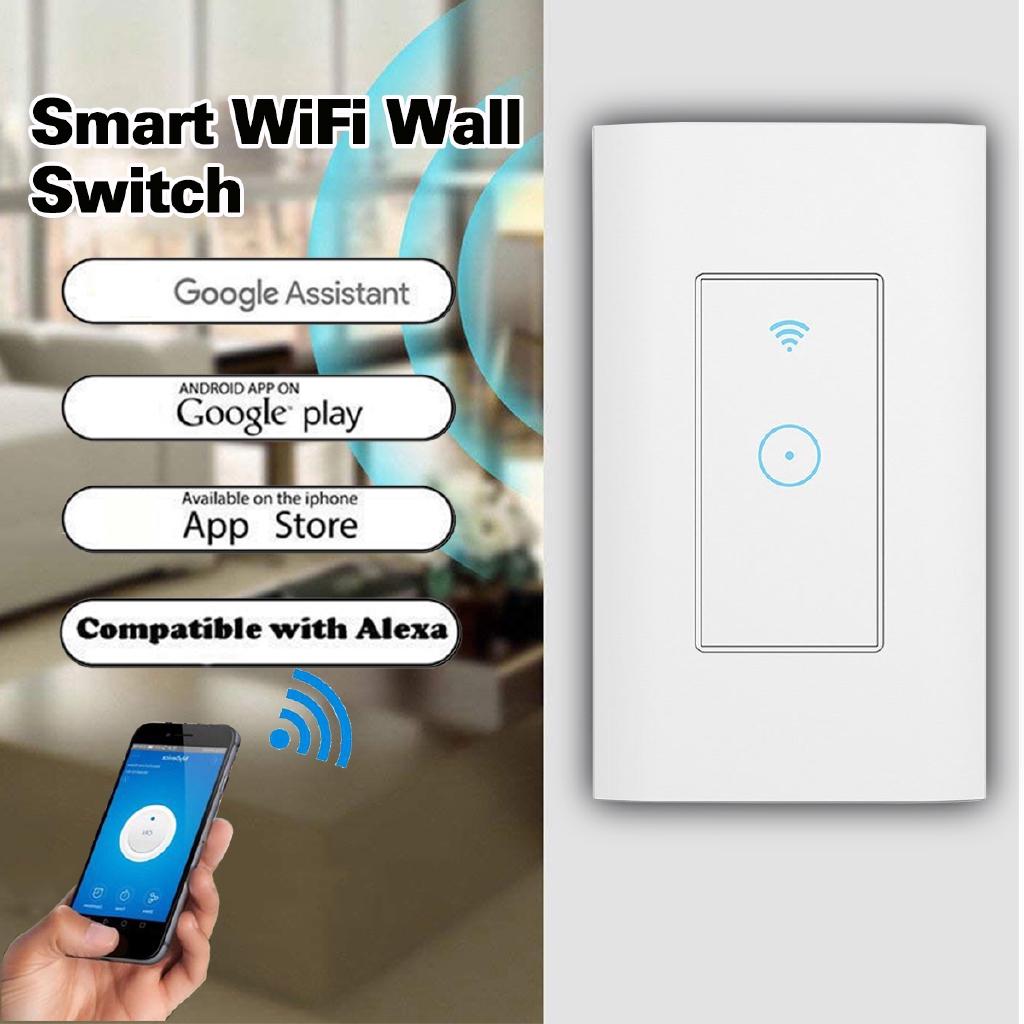Smart WiFi สวิทช์ไฟ LED แบบสัมผัสสำหรับ Alexa Google Life