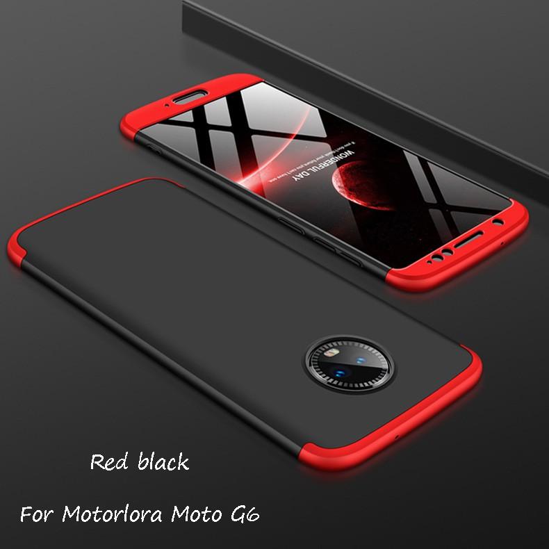 เคสสำหรับ Motorola Moto G 6 3 in 1 Combo 360 ° Full Protective Slim PC