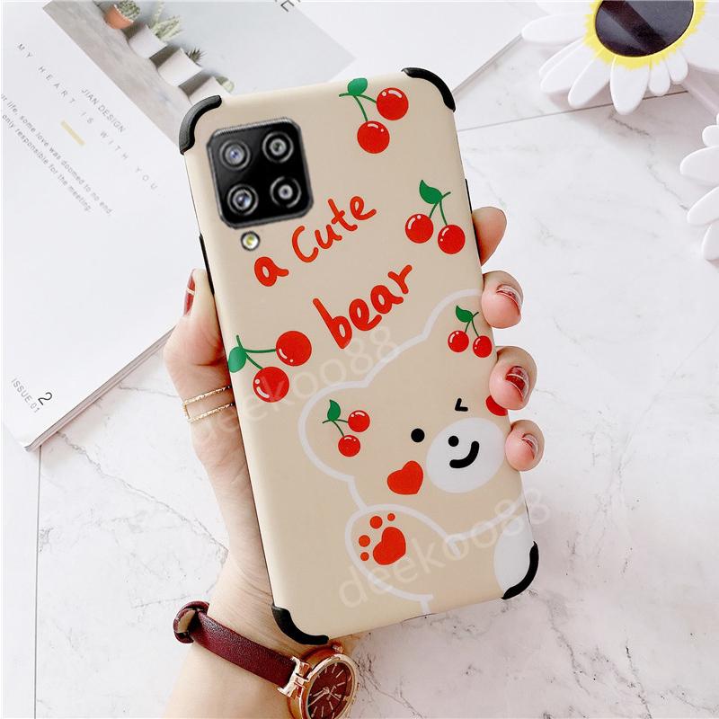 เคสโทรศัพท์ Samsung Galaxy A42 5G Phone Casing 2020 NEW Cute Cartoon Little Rabbit Ins Shockproof Cases Pink Cover Case for Samsung A42 เคส