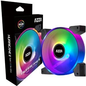 AZZA Hurricane II Digital RGB 120x120x25, Case fans (black/transparent)