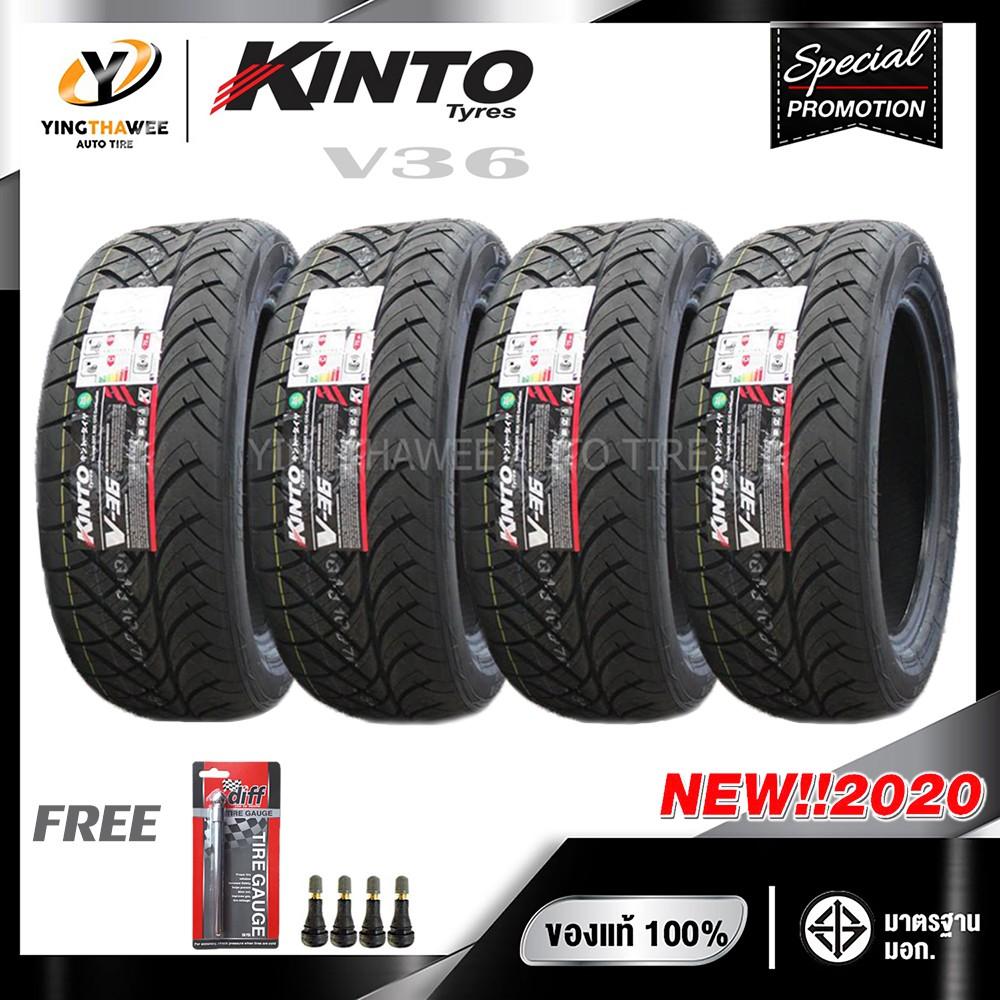 [จัดส่งฟรี] KINTO TIRE 265/50R20 ยางรถยนต์ รุ่น V36  จำนวน 4 เส้น (ปี2020) แถมเกจวัดลมยาง 1 ตัว + จุ๊บลมยาง 4 ตัว
