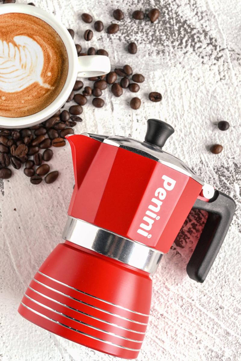 ヾ✍หม้อต้มกาแฟเครื่องชงกาแฟมือpenini moka pot หม้อกาแฟสำหรับทำหม้อกาแฟมอคค่าในครัวเรือนหม้อต้มกาแฟมืออิตาเลี่ยน
