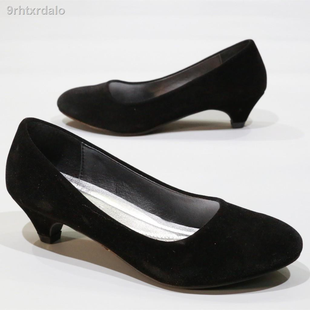 รองเท้าผู้หญิง✓รองเท้า 312 รองเท้าคัชชูนักศึกษา รองเท้าส้นสูง รองเท้าคัชชูสีดำ 2 นิ้ว FAIRY รุ่น