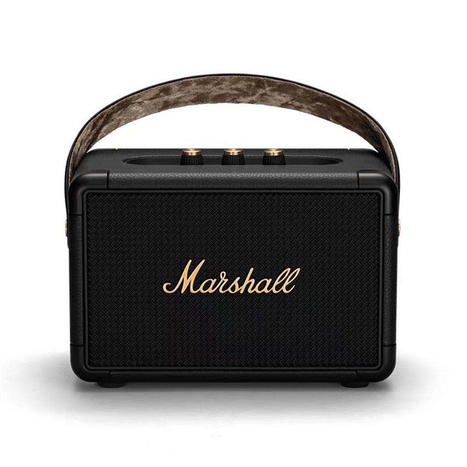 มาร์แชล MARSHALL KILBURN II รุ่นที่สอง ลําโพงบลูทูธ ลำโพงคอมพิวเตอร์ ลำโพงบลูทูธพกพา เครื่องเสียง Black (รับประกัน 1 ปี)