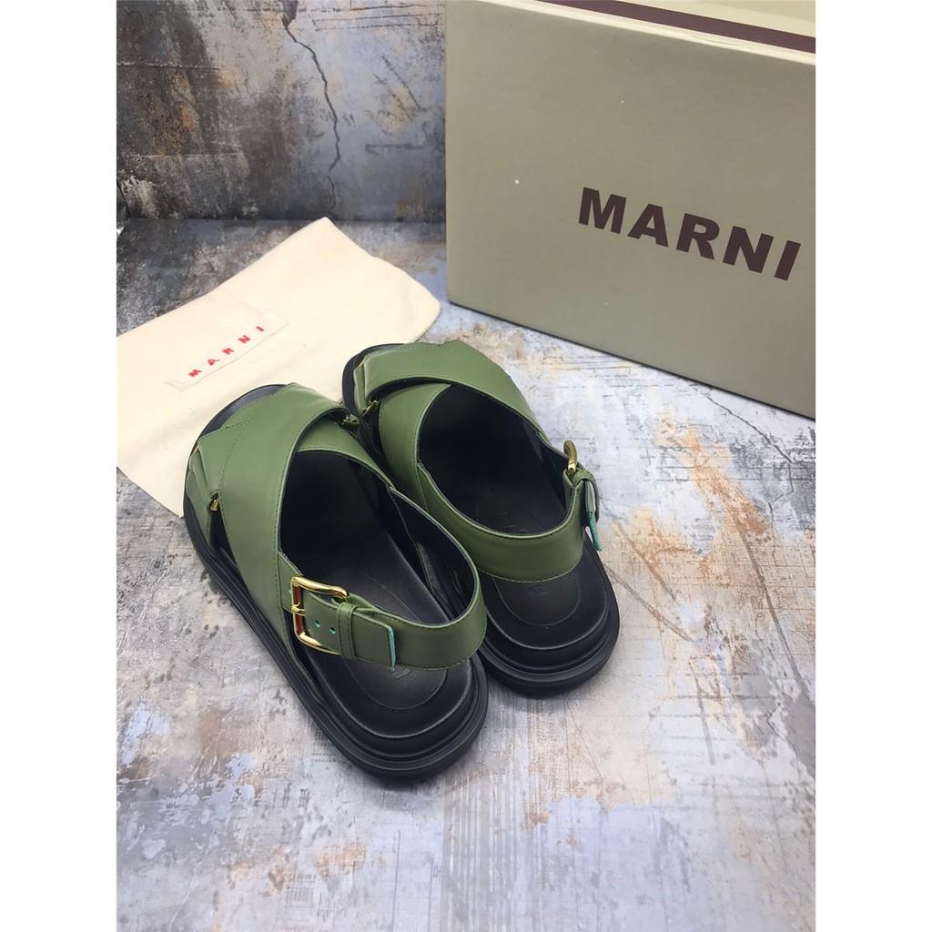 สินค้าใหม่ Marni ข้ามความคมชัดกีฬารองเท้าลำลองแพลตฟอร์ม 8 nQ5N