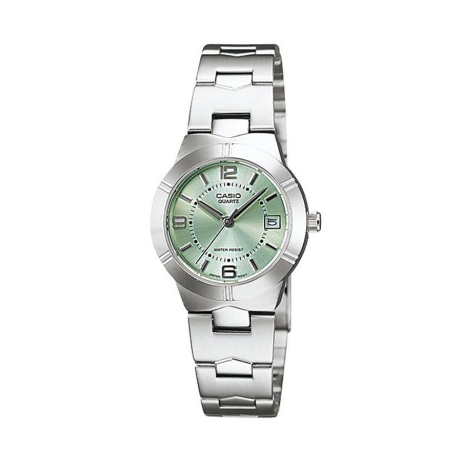 Casio Standard นาฬิกาข้อมือผู้หญิง สายสแตนเลส รุ่น LTP-1241D-3A - สีเงิน