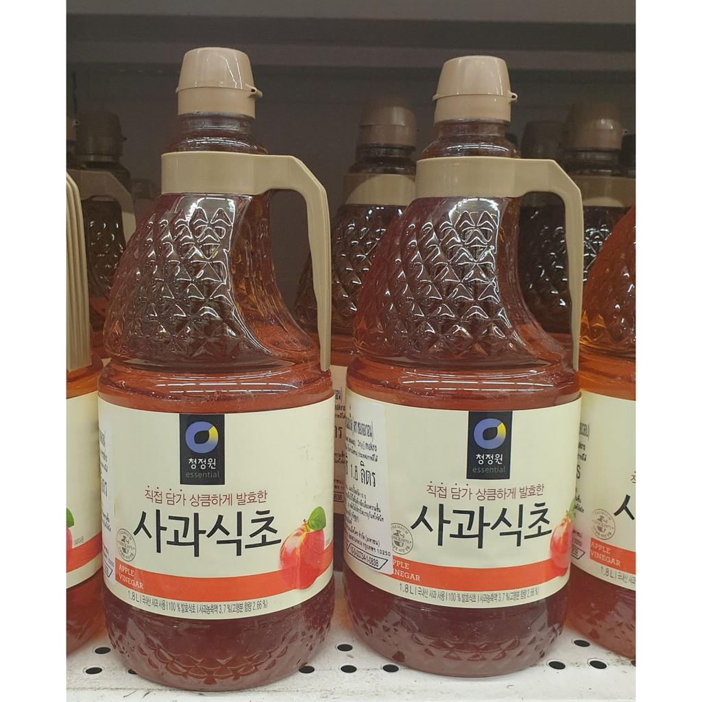 น้ำส้มสายชูหมักจากแอปเปิ้ล ตรา ชองจองวอน 1.8 ลิตร Apple Cider Vinegar