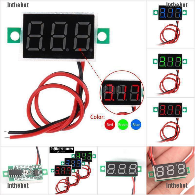 Digital LED Dual Display Voltmeter Amperemeter Voltage Gauge Meter AC 60-500 gs