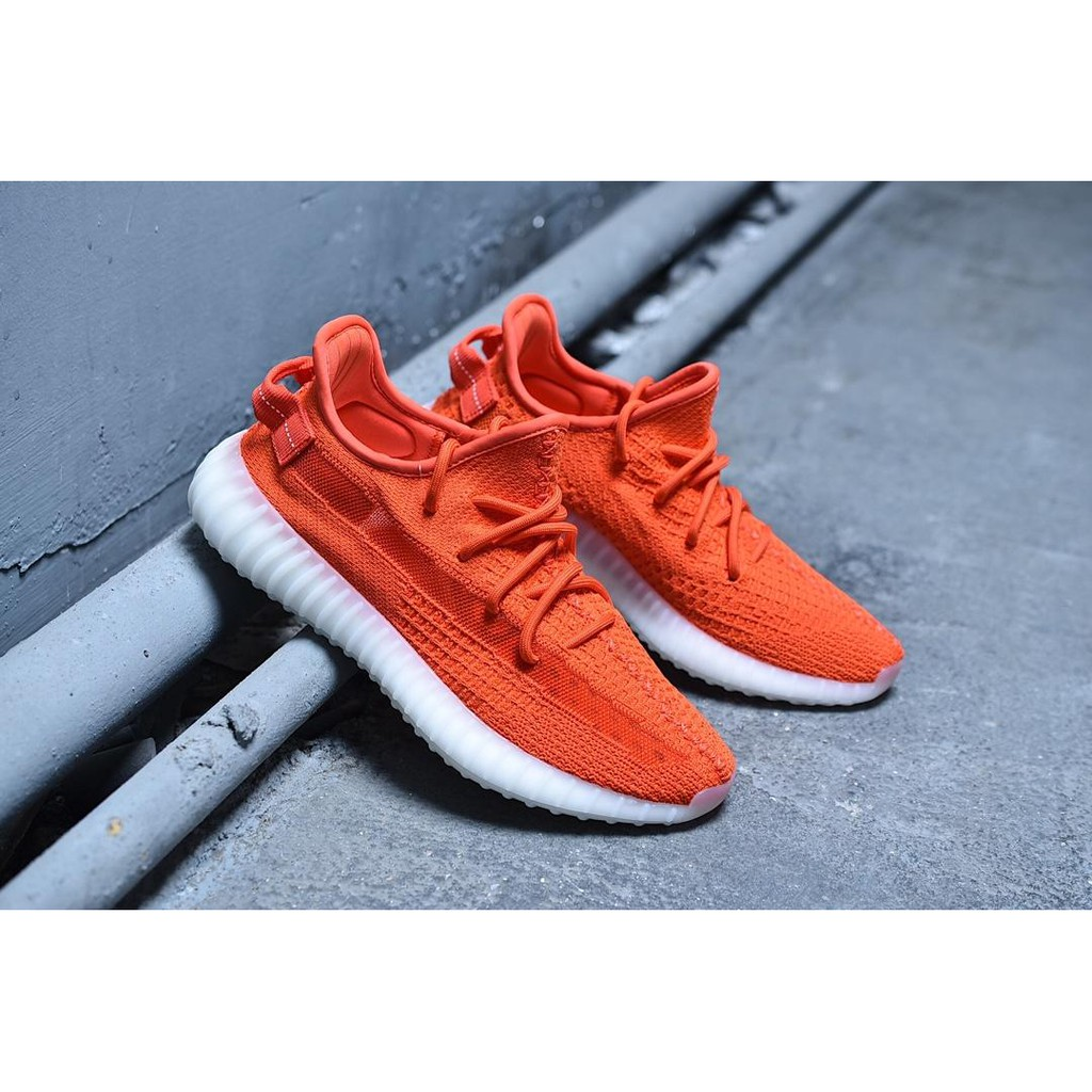 (Adidas)Yeezy 350 Boost V2 men's shoes red Static sneakers