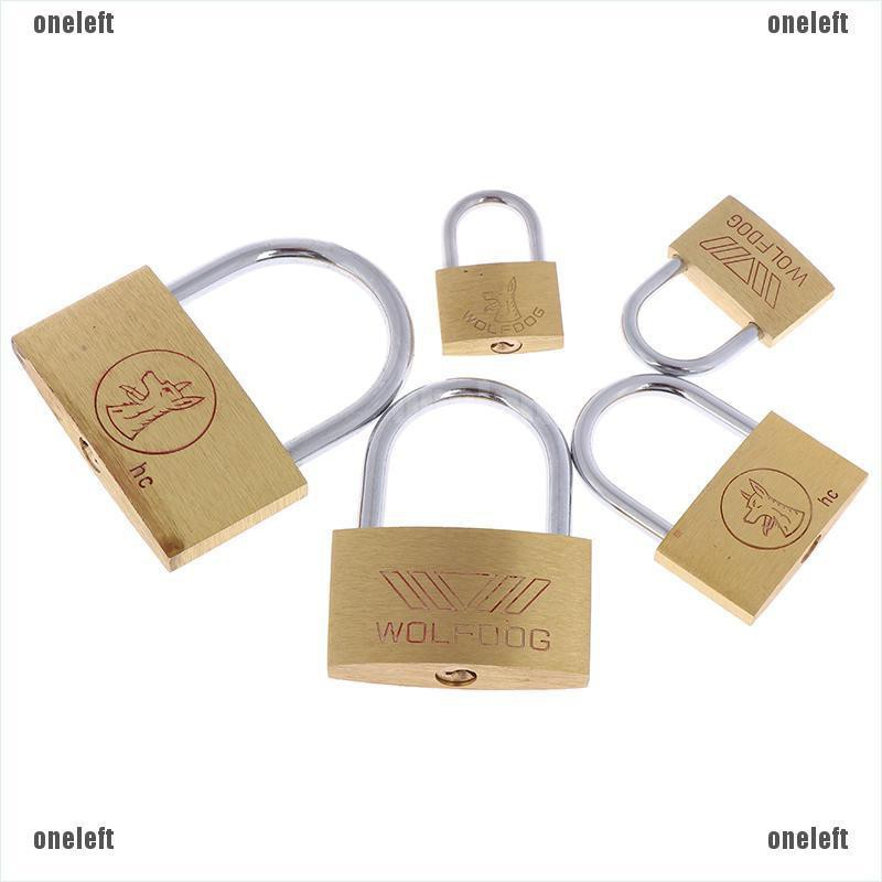 1 Pc Brass Copper 10 Size Anti-Theft Lock Padlock With 3 Keys