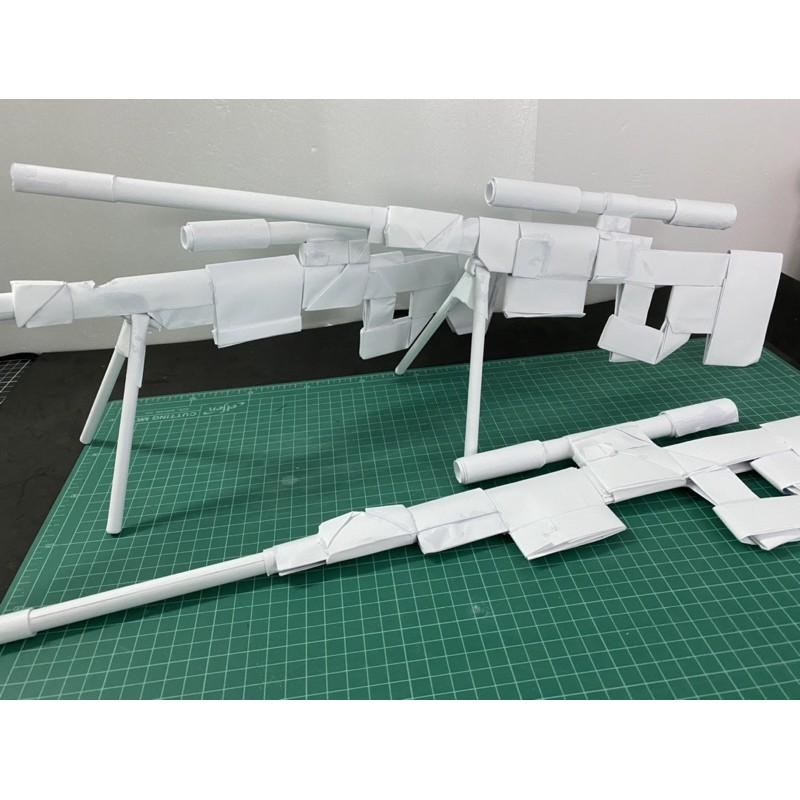 ปืนยิงหนังยางกระดาษ ปืนสไนเปอร์ AWM งานประดิษฐ์ DIY