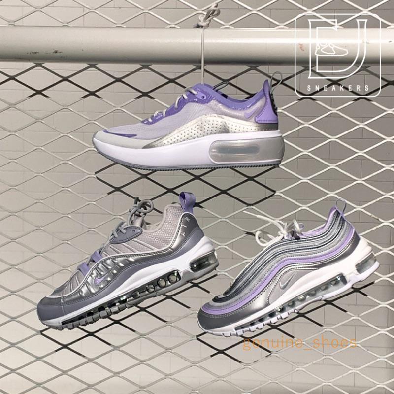 Nike Air Max 97/98/dia Se รองเท้าผ้าใบลําลองสีเงินสีม่วง