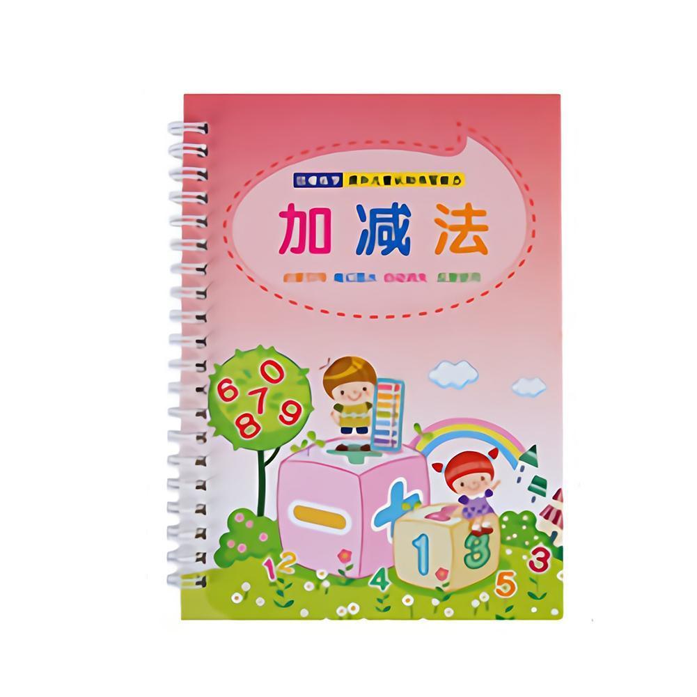 Reusable Children's Preschool Copybook Manual Books Writing Practical For C P5D4