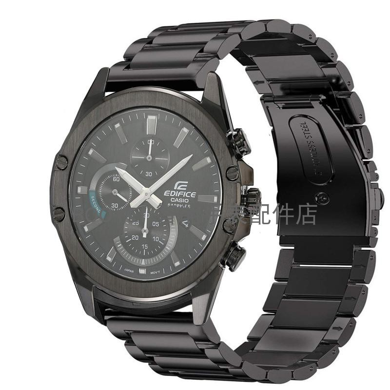 สายนาฬิกา สายสแตนเลส Casio นาฬิกา CASIO EQS-900DB-1AVCR Metal Replacement Wristband