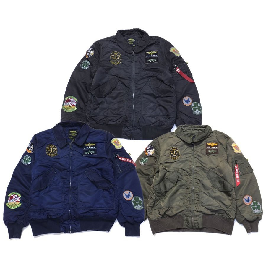 Jacket alpha CWU 45-P PILOT X FLIGHT PATCH